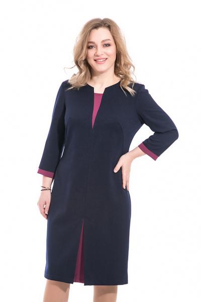 Платье с контрастными вставками, П-493/4