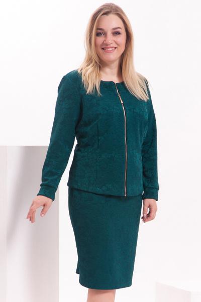 Жакет зеленой расцветки,  Ж-521